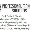 The Professional Franchise Consultation Services in Kolkata