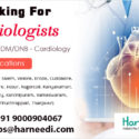Cardiologists are required to work in Tamilnadu locations