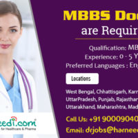 Wanted MBBS Doctors for Various Locations