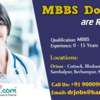 Wanted MBBS Doctors in Orissa locations