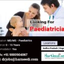 Paediatricians are required in Andhra Pradesh locations